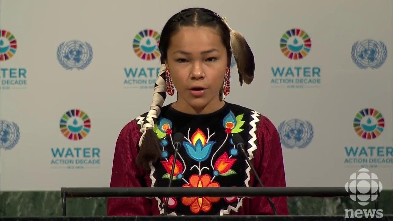 Ms. Peltier at the UN