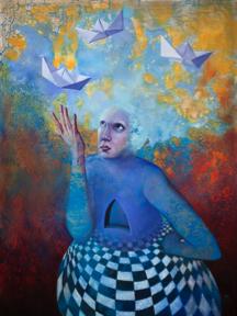 """Manifestation"", Angela Alés, Oil on canvas, 48""x36"" (2014)"