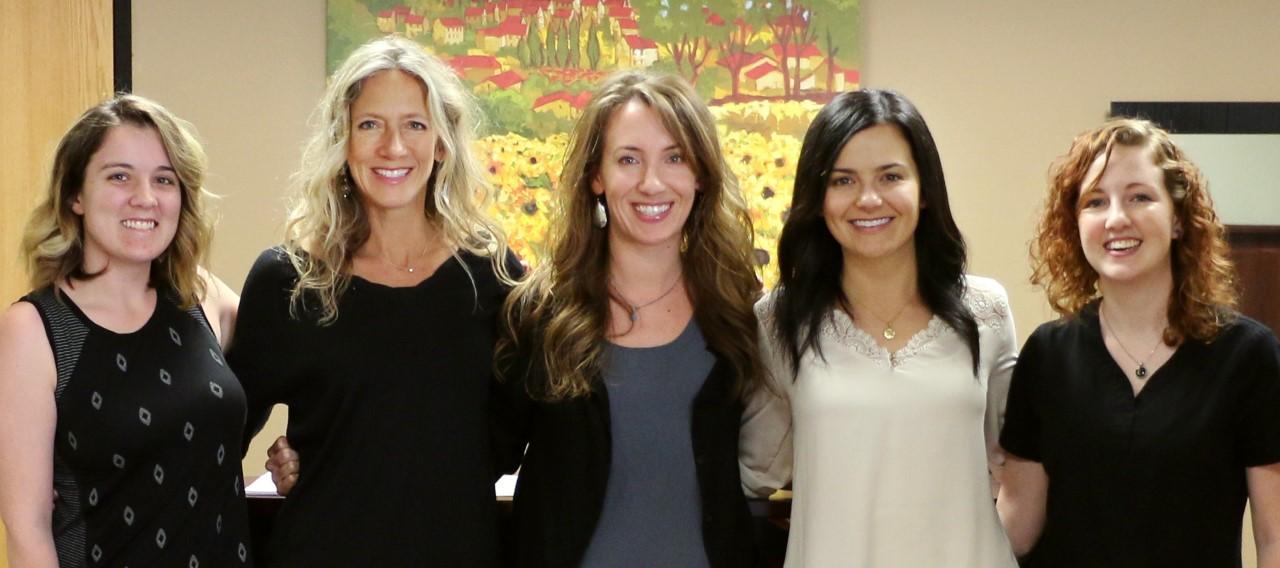 The Austin Team (Haley - office manager, Robin - health coach, Meg - physician assistant, Lauren - health coach, Shayla - MA)