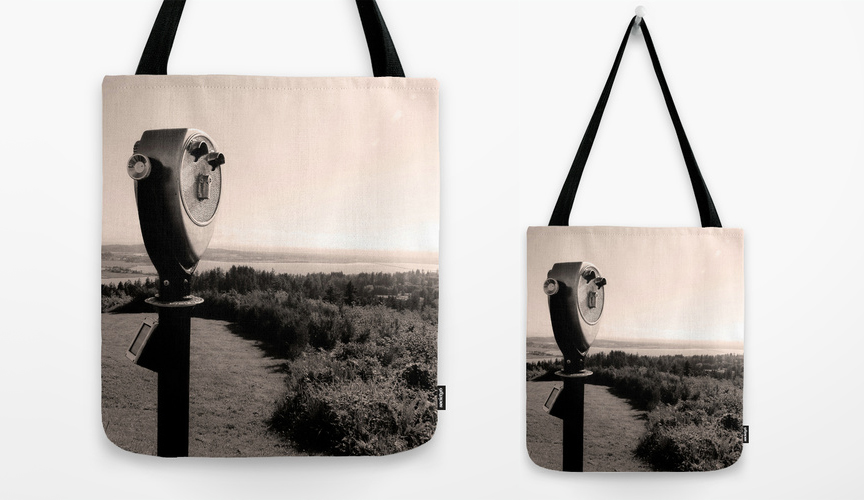 vintage-viewfinder-astoria-column-city-park-oregon-tote-bag