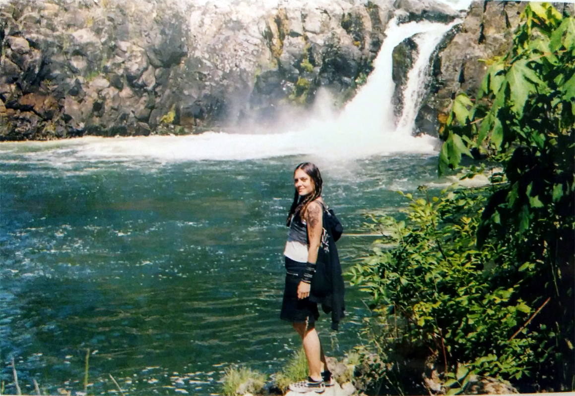 kim first waterfall oregon wild wood
