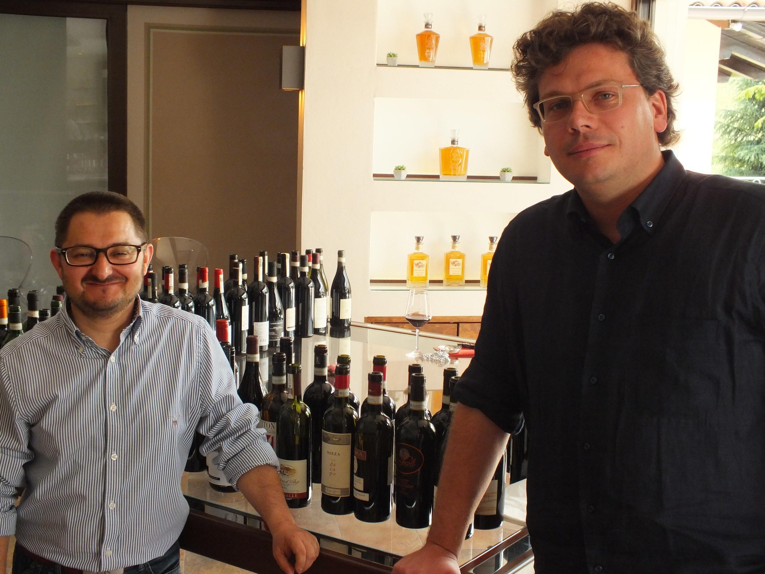 Gianni Bertolino (right) President of Associazione Produttori del Nizza and Daniele Chiappone of Erede du Chiappone