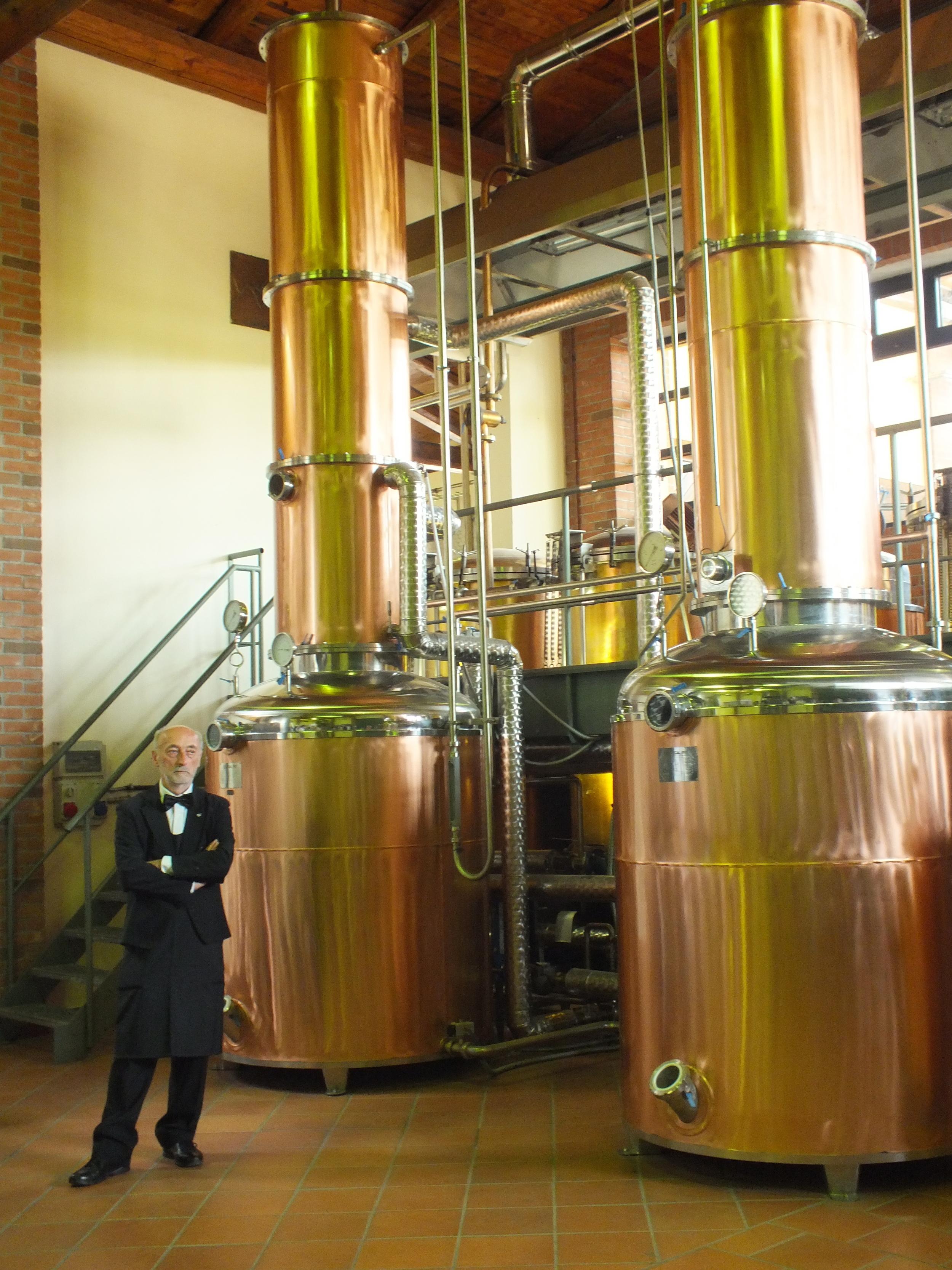 Touring the facilities at Berta Distillery of Grapa
