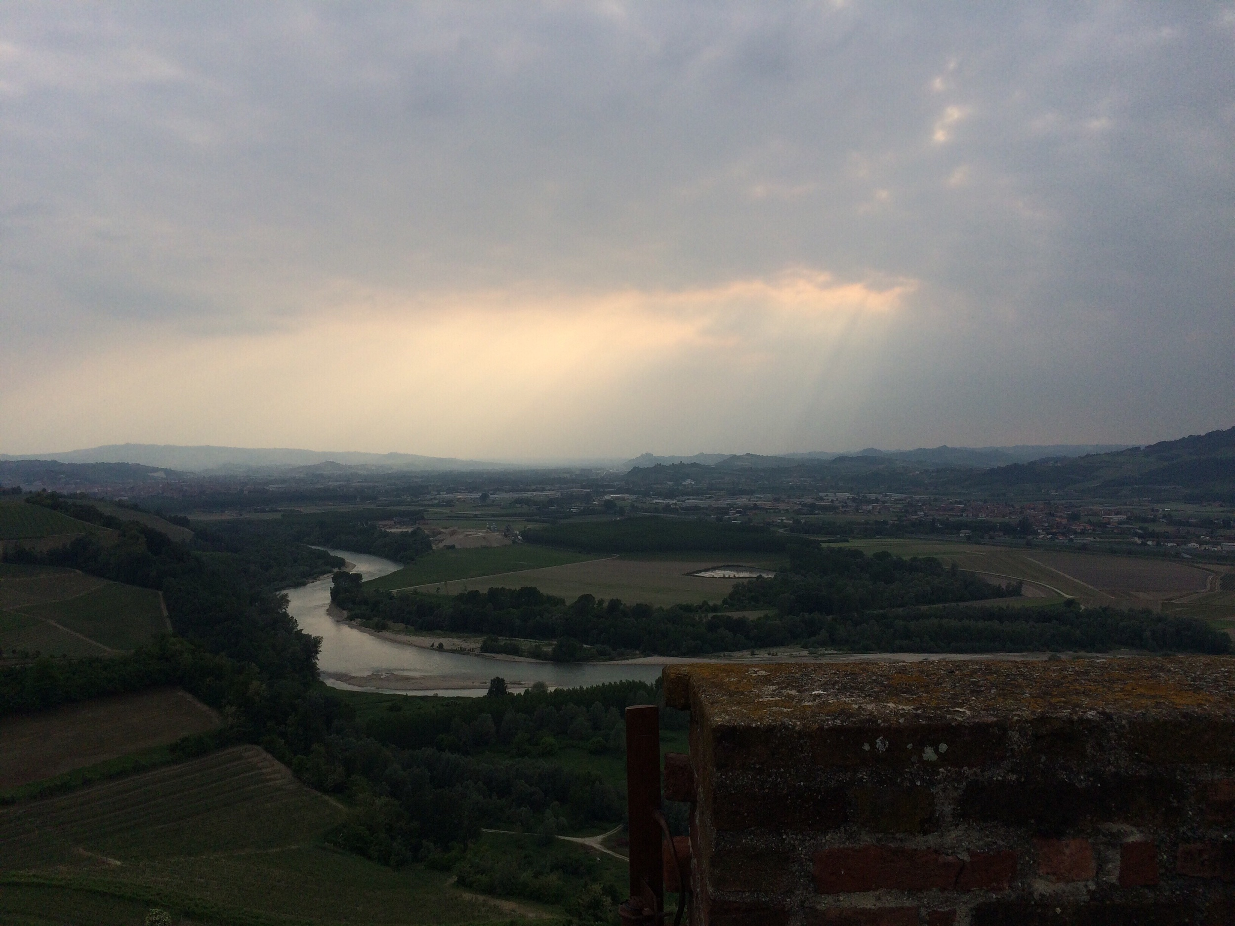 The Tanaro River viewed from Barbaresco