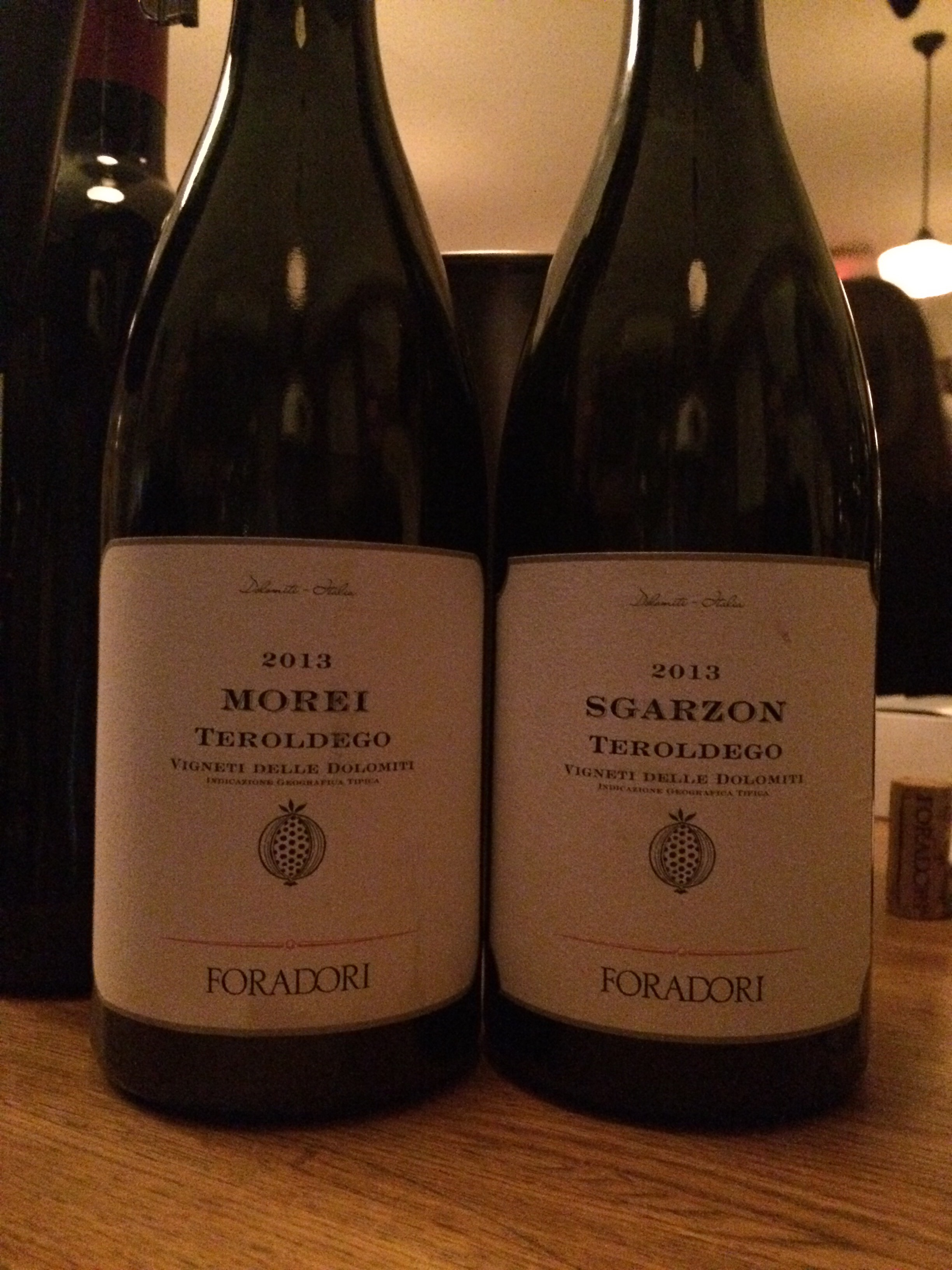 Two single Vineyards 100% Teroldego 100% Amphora (Tinajas) 100% delightful.