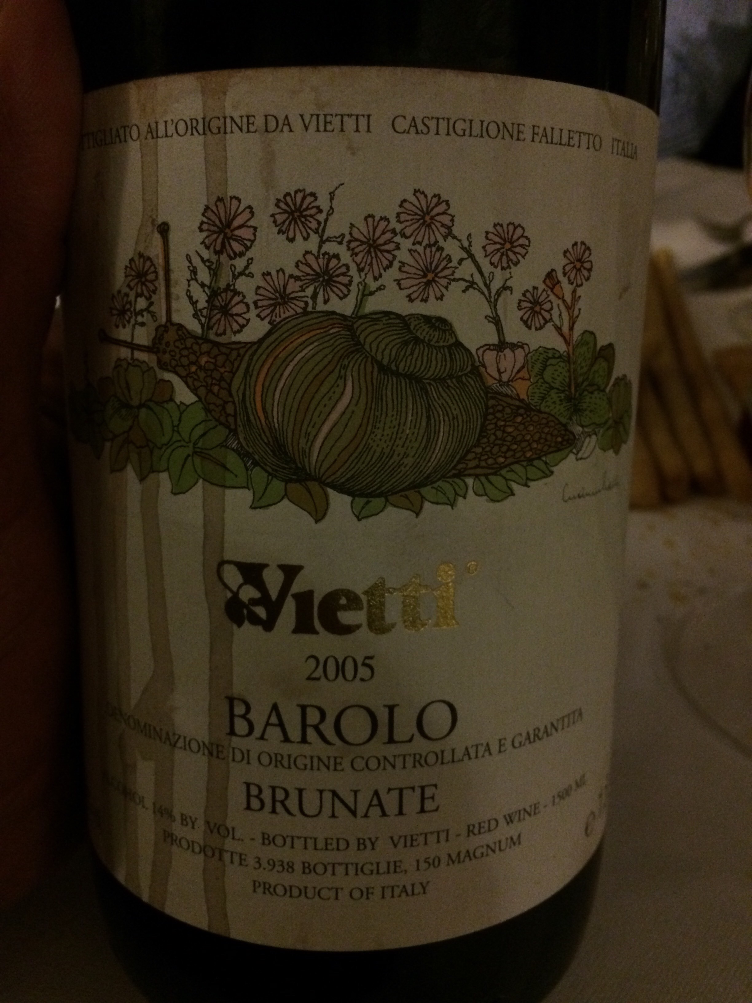 2005 Brunate tasted at 2015 Nebbiolo Prima Dinner