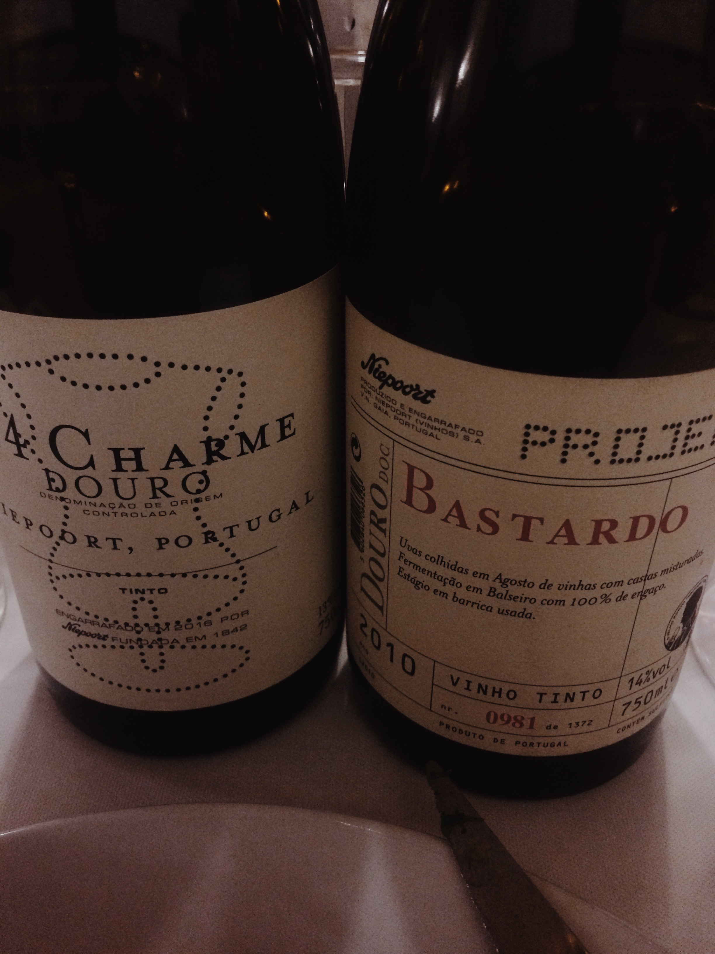 Charme and Bastardo- my favourite companions of the night. Niepoort Vinhos. by Christopher Sealy