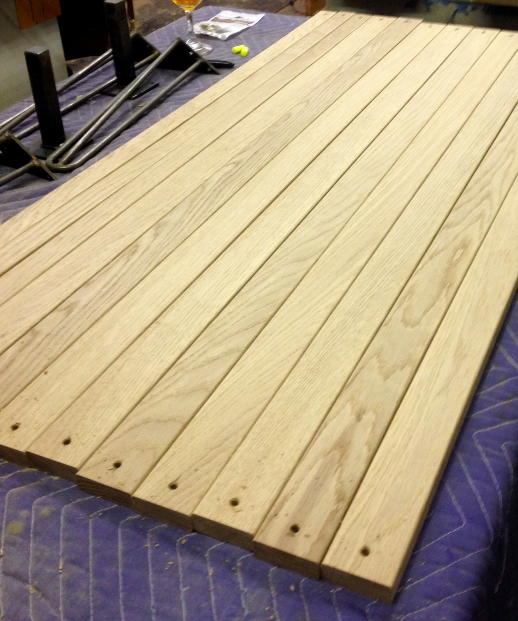 Picture of: White Oak Bench Slats Atkins Woodworking
