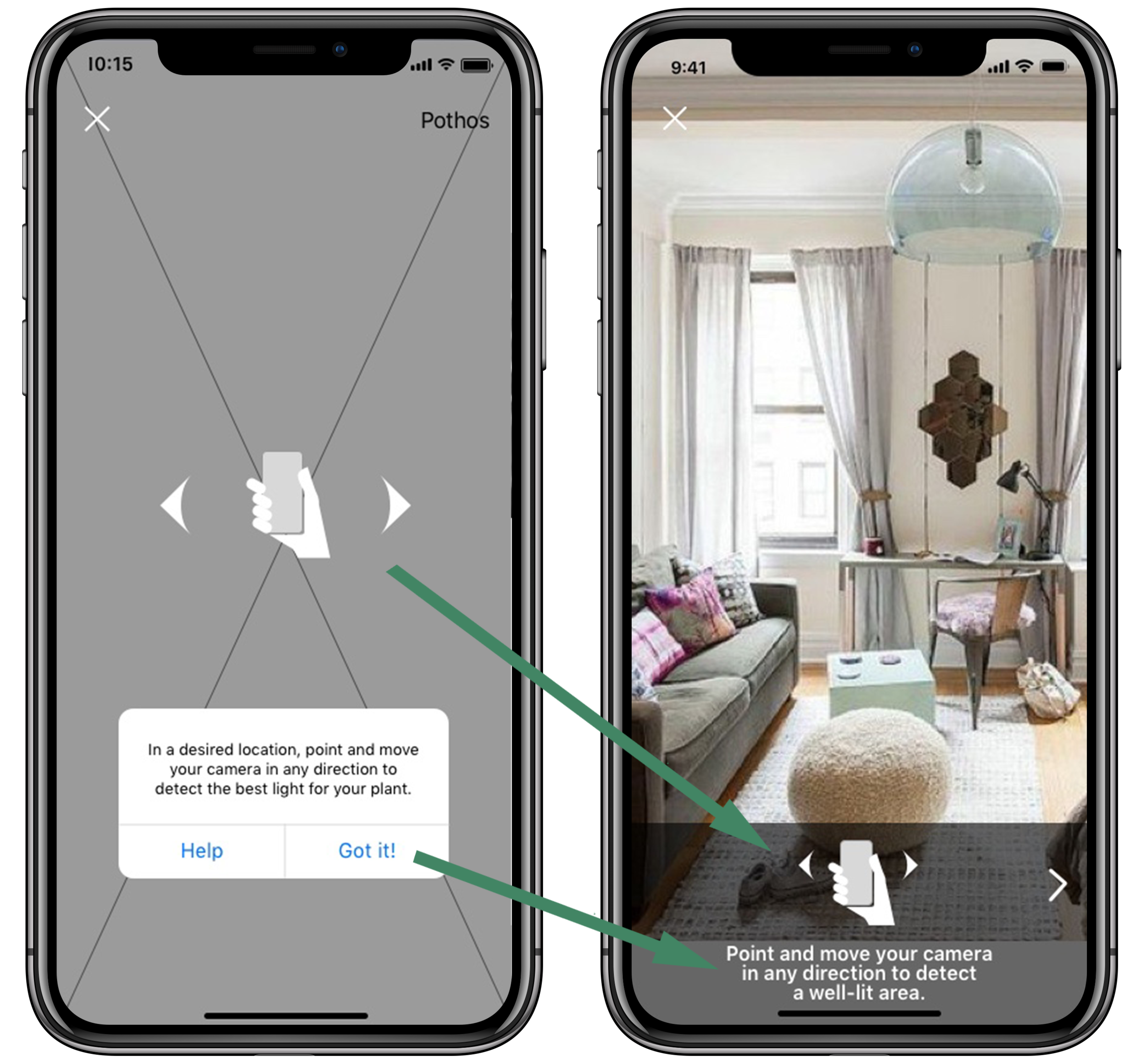 3) Copy for AR instructions was too long and the visual appeal was dull, so users didn't take time to read them in testing. We edited the copy and redesigned the interface.