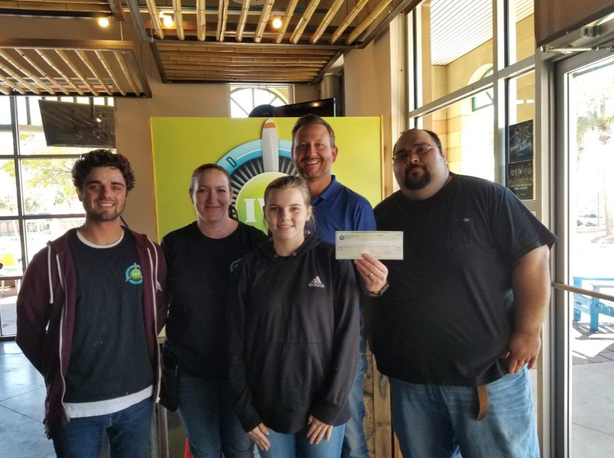 A big thanks to the team at Island Wing Company in Destin for participating in the February Eating for Advocacy event. In addition to the $320 raised, they also collected needed items for the center.