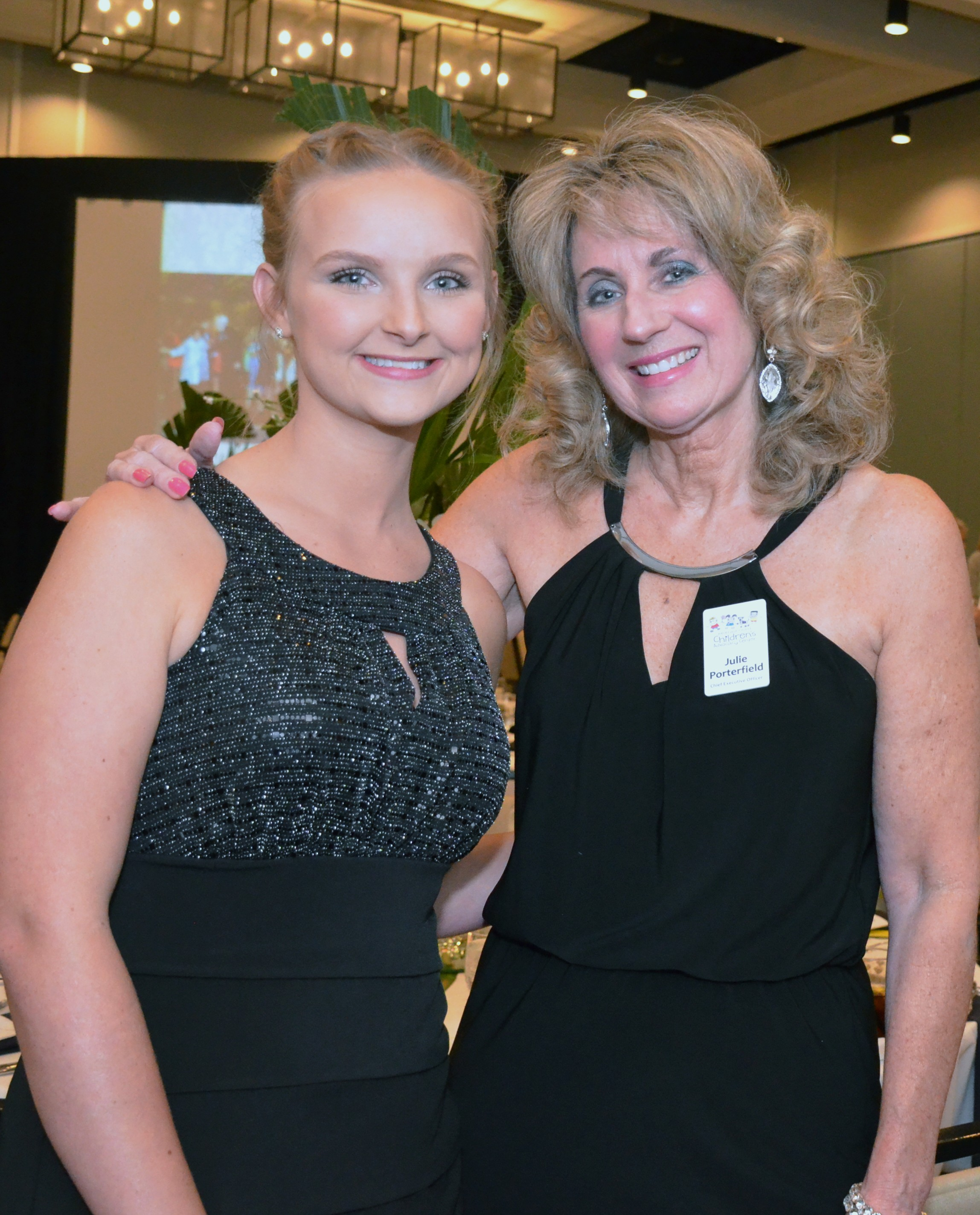 Guest speaker Katelyn Pendleton and ECCAC CEO, Julie Hurst at recent Kieran May Memorial Gala.