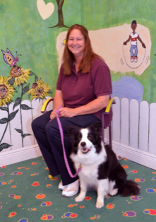 Kathy Kent and her Border Collie, Annie