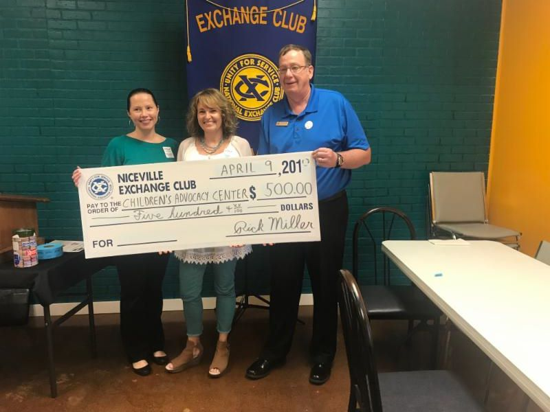 Thank you to the Niceville Exchange Club for their generous donation!