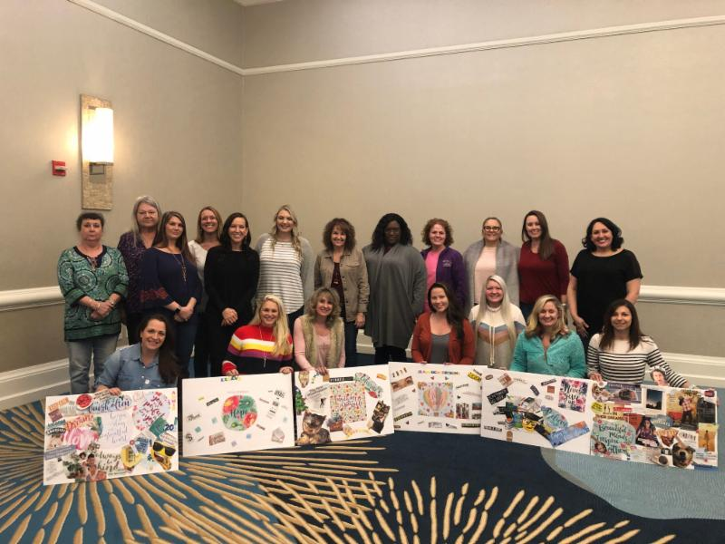 On January 27th we had our annual Staff Retreat at the  Hilton Sandestin Beach Golf Resort & Spa . Our staff created vision boards and mapped out our goals for 2019!