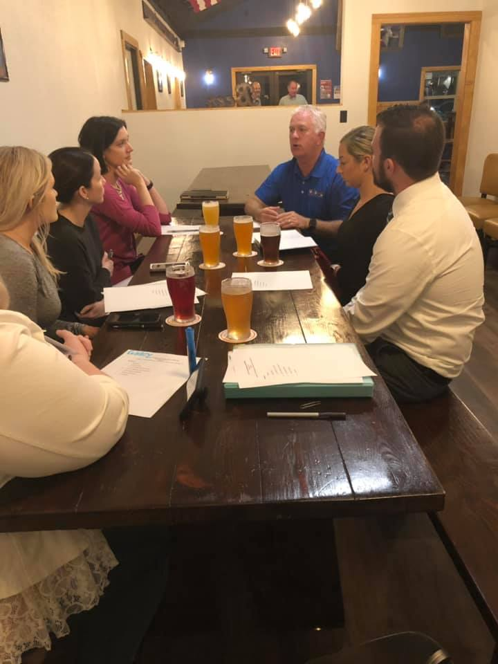 Thank you to our Board Member, Tom Saffel, for going over our development strategy with our  Young Ambassador Board  at their January meeting at  3rd Planet Brewery !