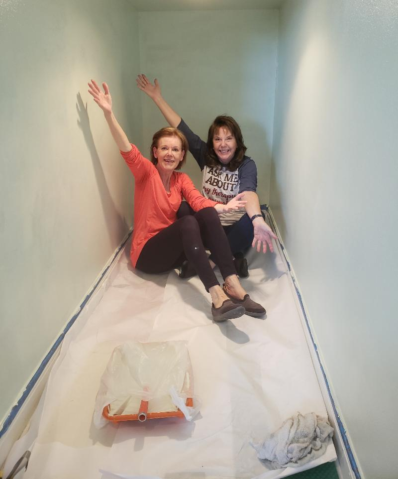 Thank you to two of our outstanding volunteers, Jen & Roz, who refreshed and hung white boards in our lobby nook at our Niceville Center!