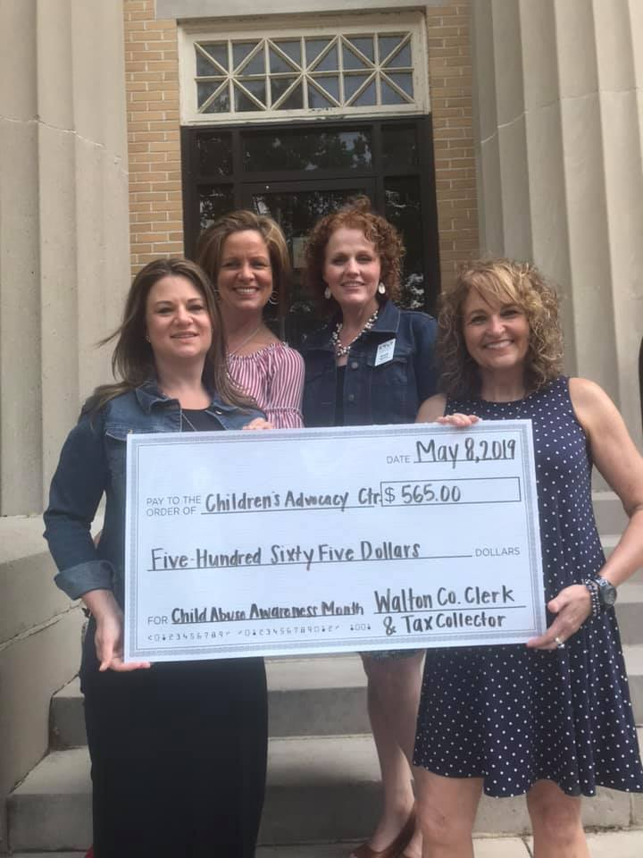 We cannot thank the Walton County Courthouse and Tax Collectors Office enough for their wonderful support throughout Child Abuse Prevention Month including their generous donation!