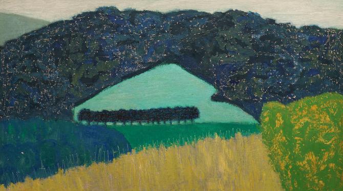 Sally Michel, Field in Hilly Landscape