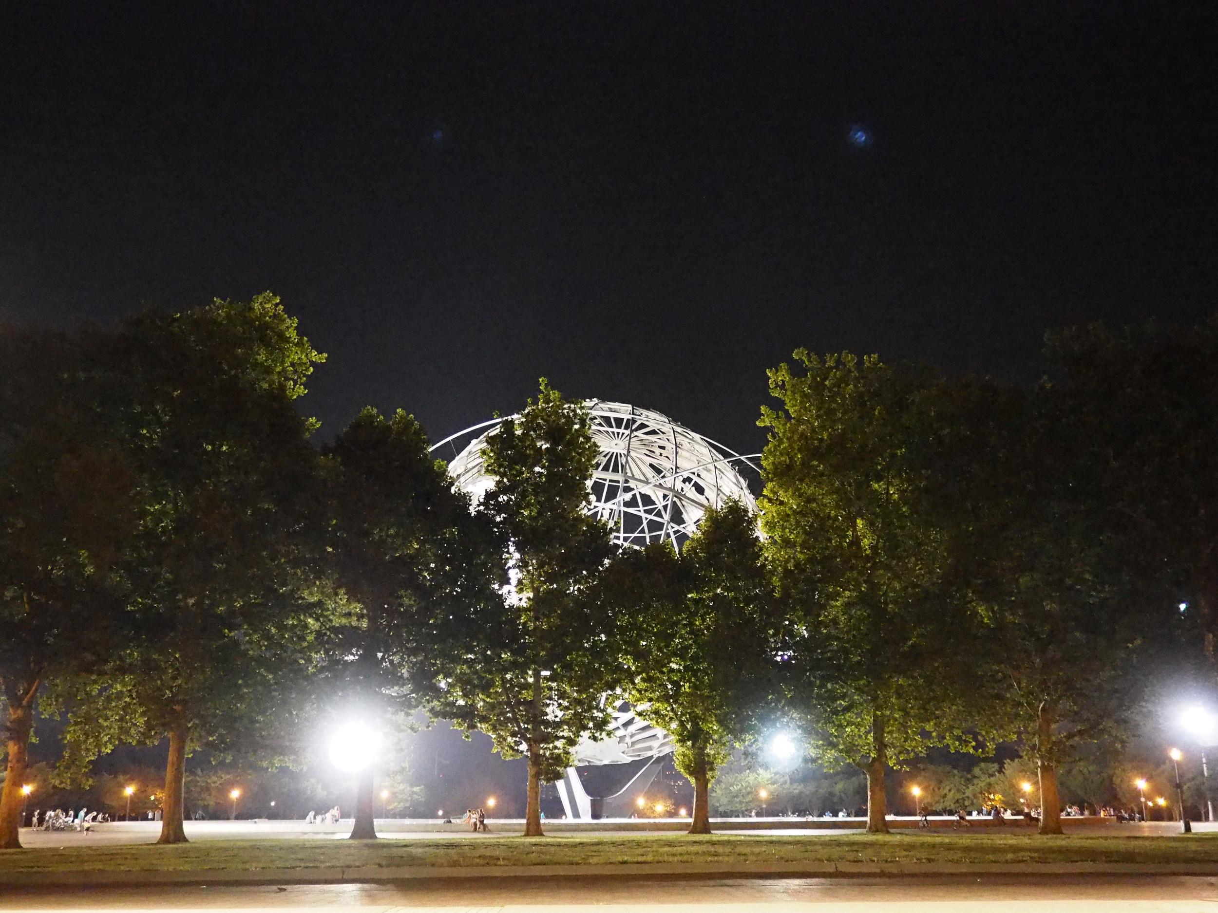 The Unisphere in Queens •17mm • f/1.8 • 1/100 •ISO 10,000