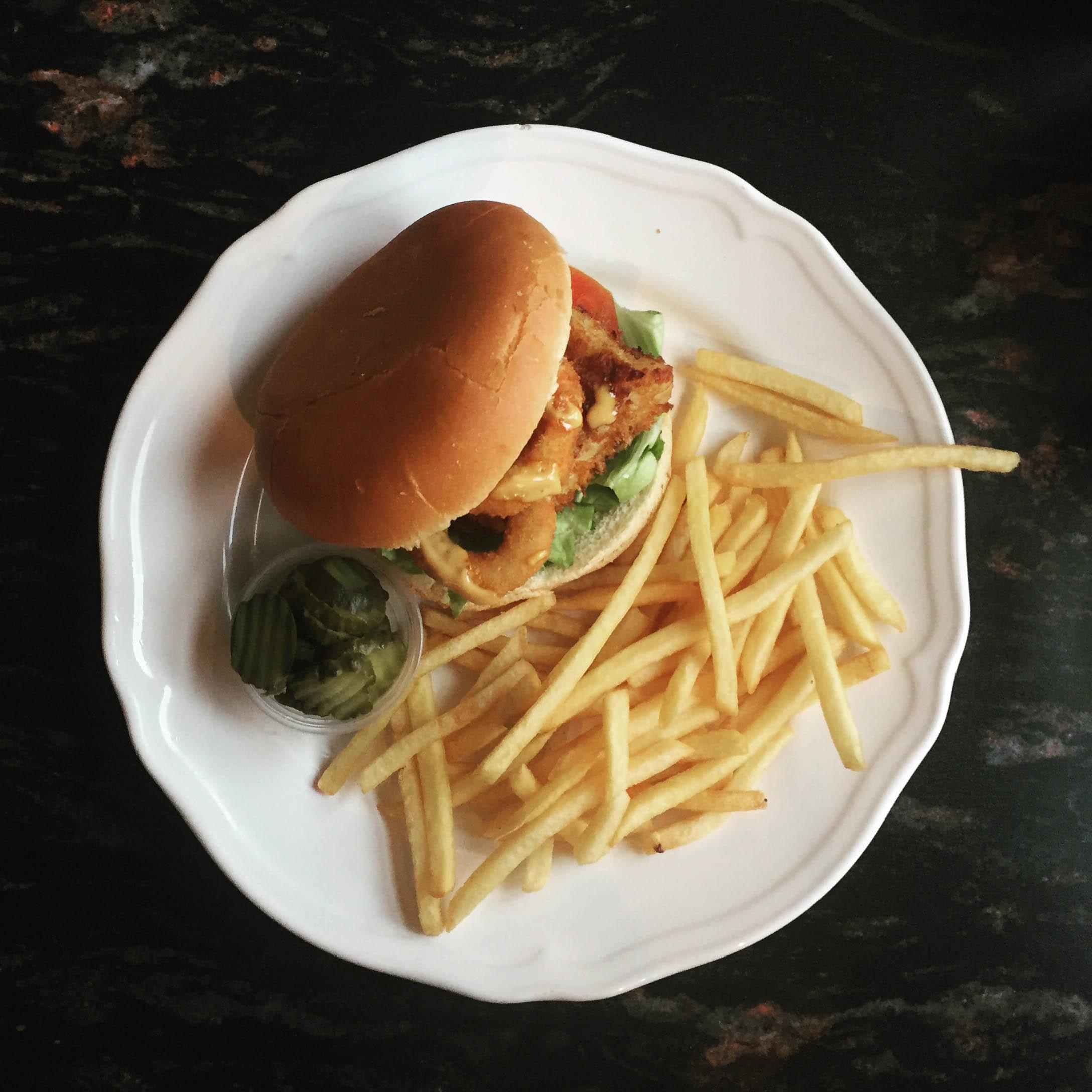 The fish burger at Prikid.