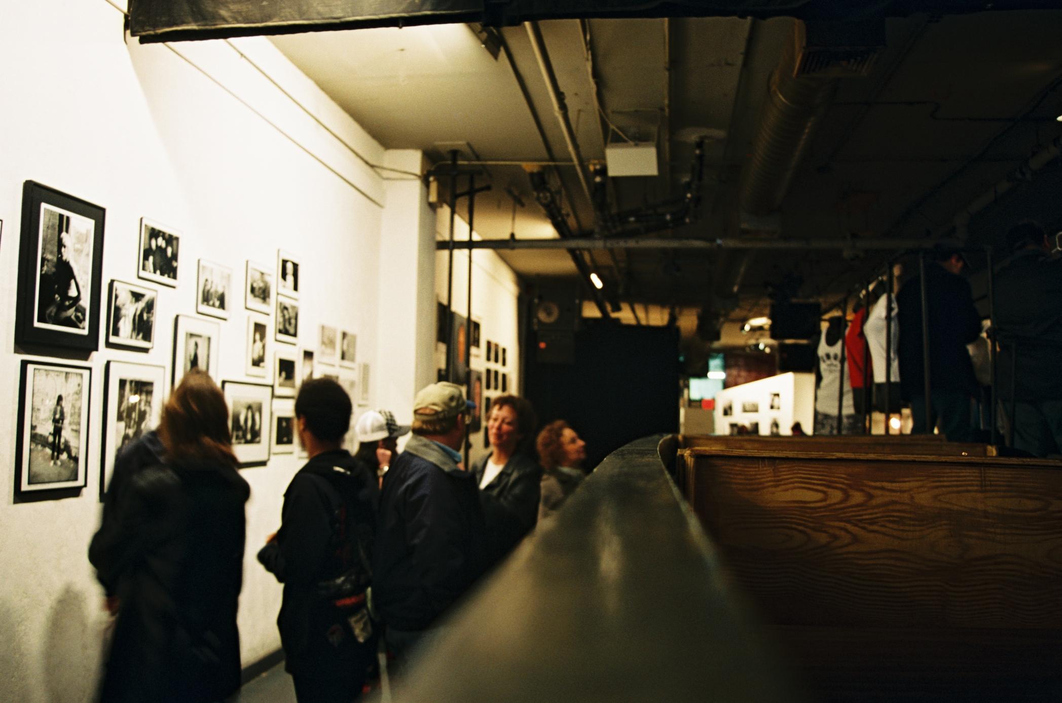 The CBGB Gallery, 2005, 35mm color slide.
