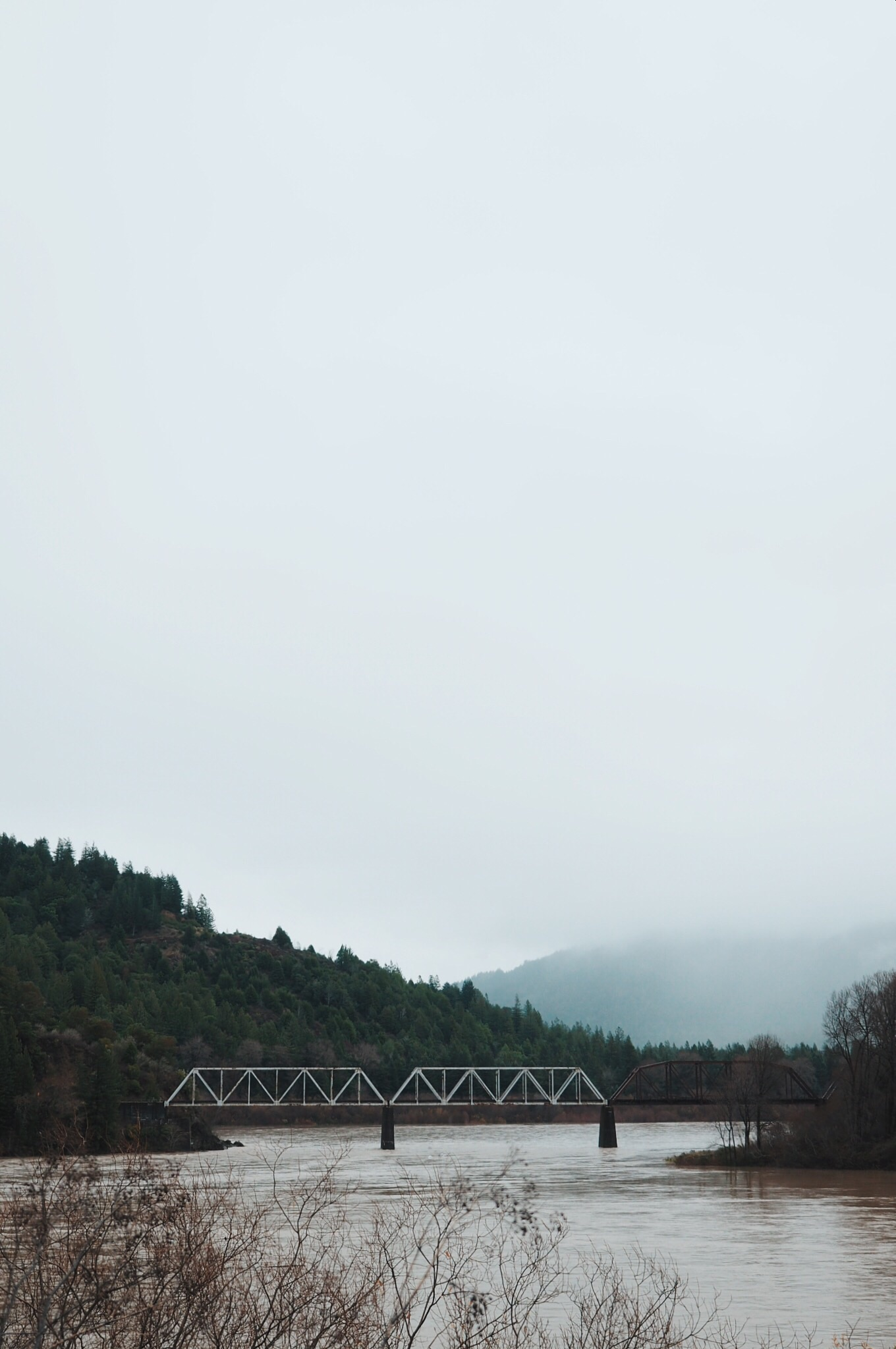 Train trestle over the Eel River