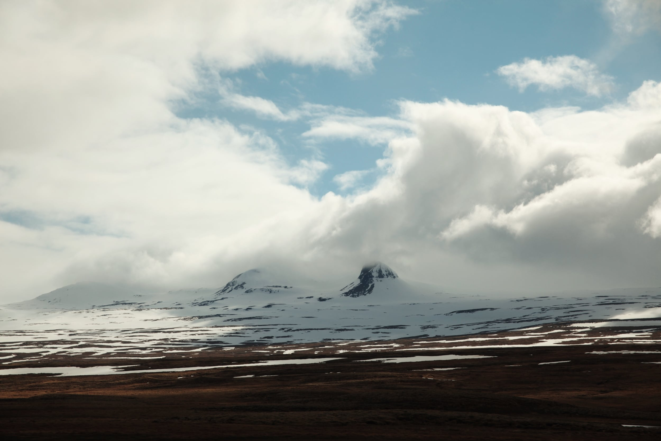 iceland snowy mountains