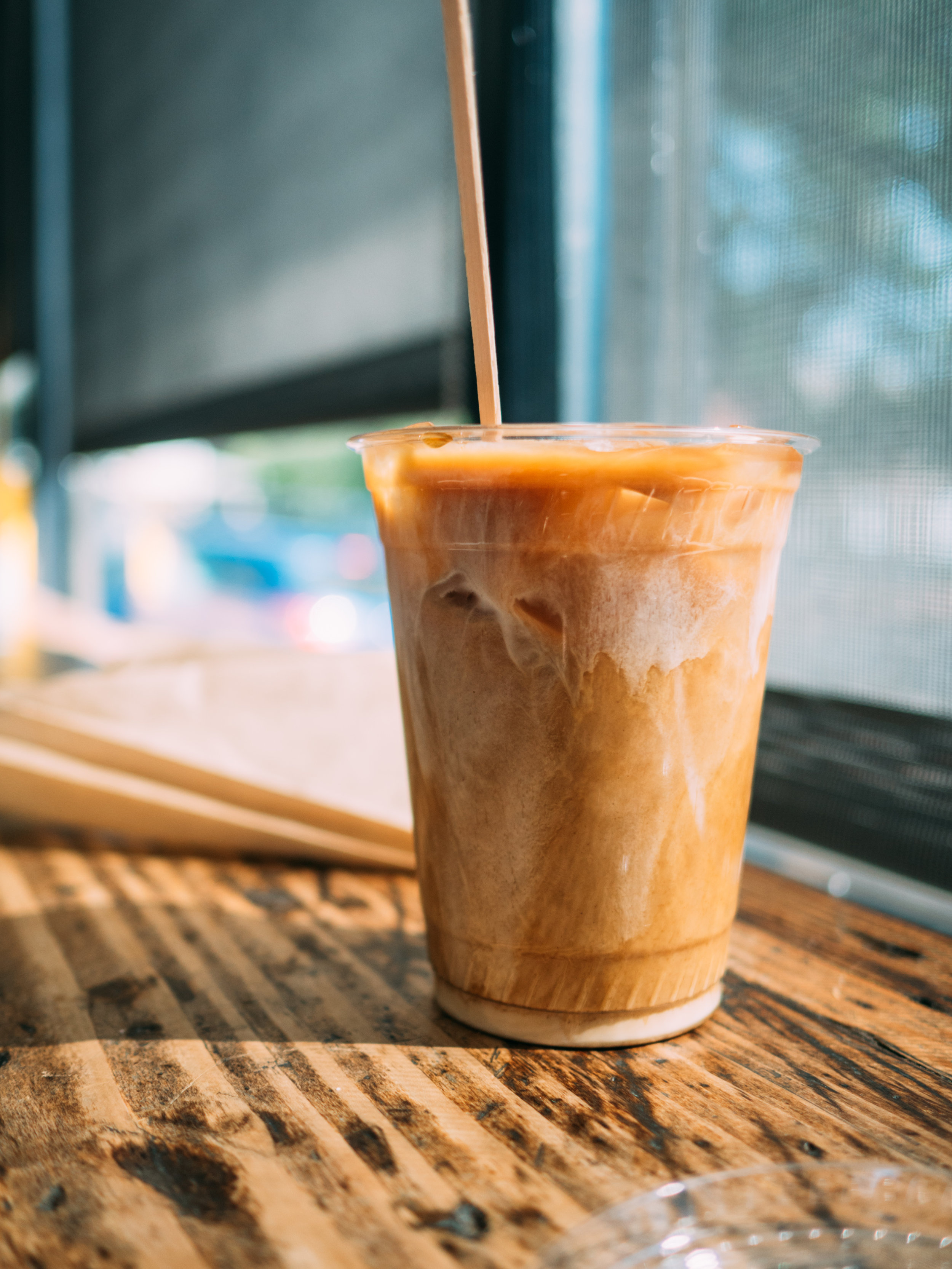 Iced coffee at The Filling Station