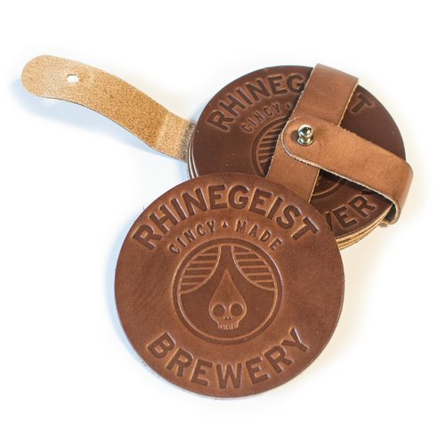 $32 - Rhinegeist Leather Coaster Set