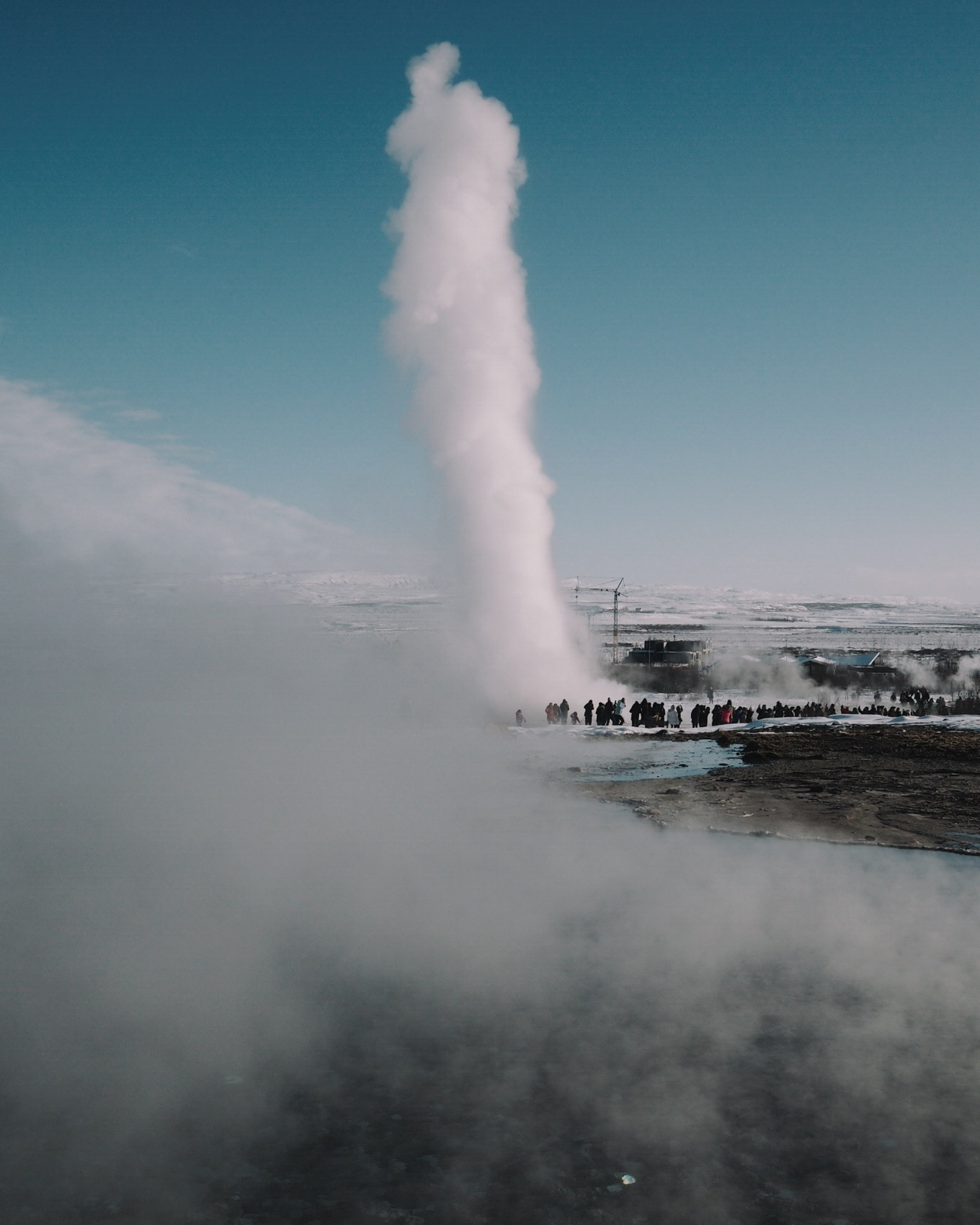 The very active geyser Strokkur at Haukadalur