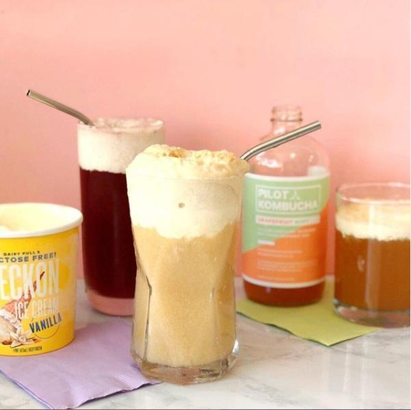 Kombucha + Ice Cream Floats