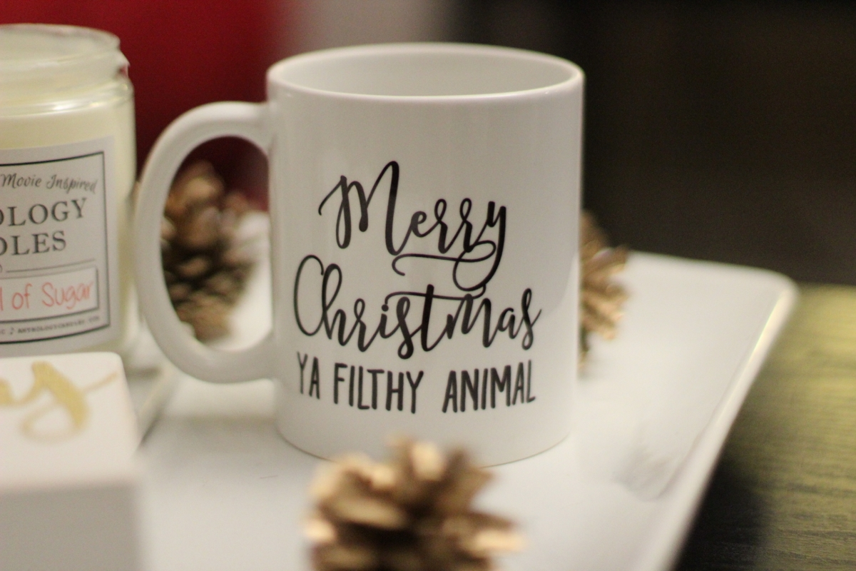 """How hilarious is this mug? Any Home Alone fans out there? I watch it every year so this was perfect!  """"Merry Christmas Ya Filthy Animal"""" Mug"""