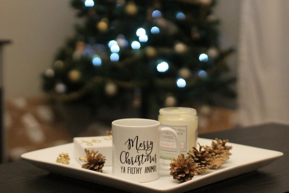 Gold Pine Cones // Merry Christmas ya filthy animal Mug