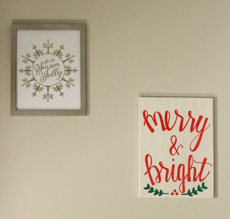 Merry and Bright // Gold Foil Print