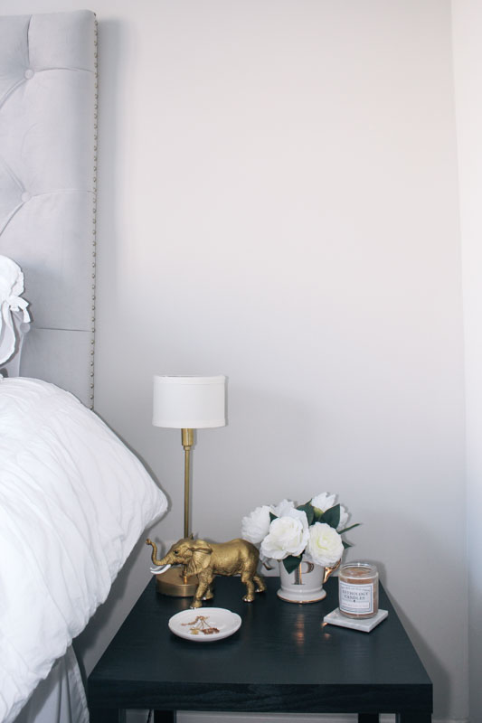 This  Gold lamp  is from  Illuminate Vintage . I linked all the gold accents at the end of this post!