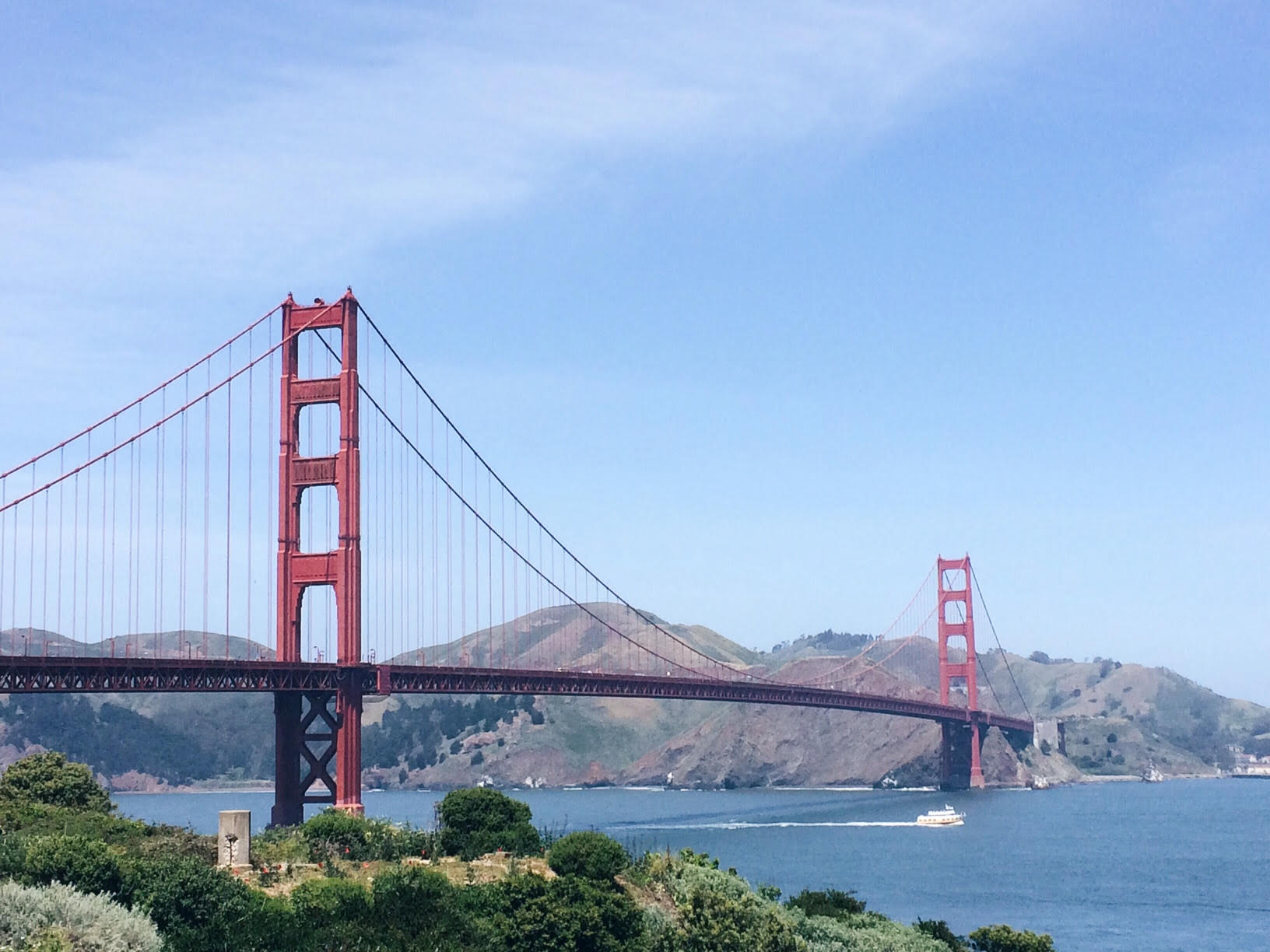 The gorgeous GG Bridge. It looks so big up close!