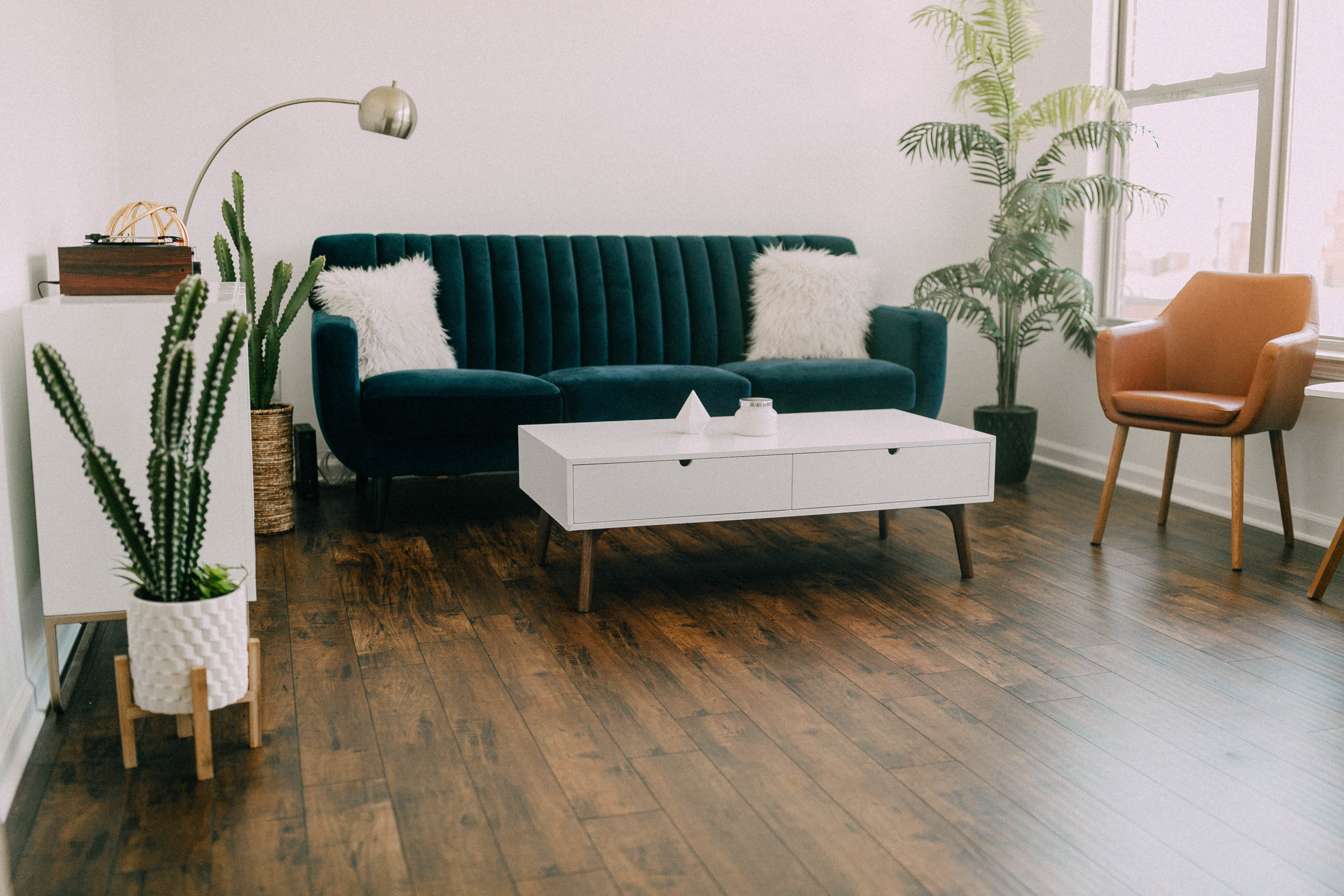 Mid Century Modern Living Room Reveal With At Home Lemon