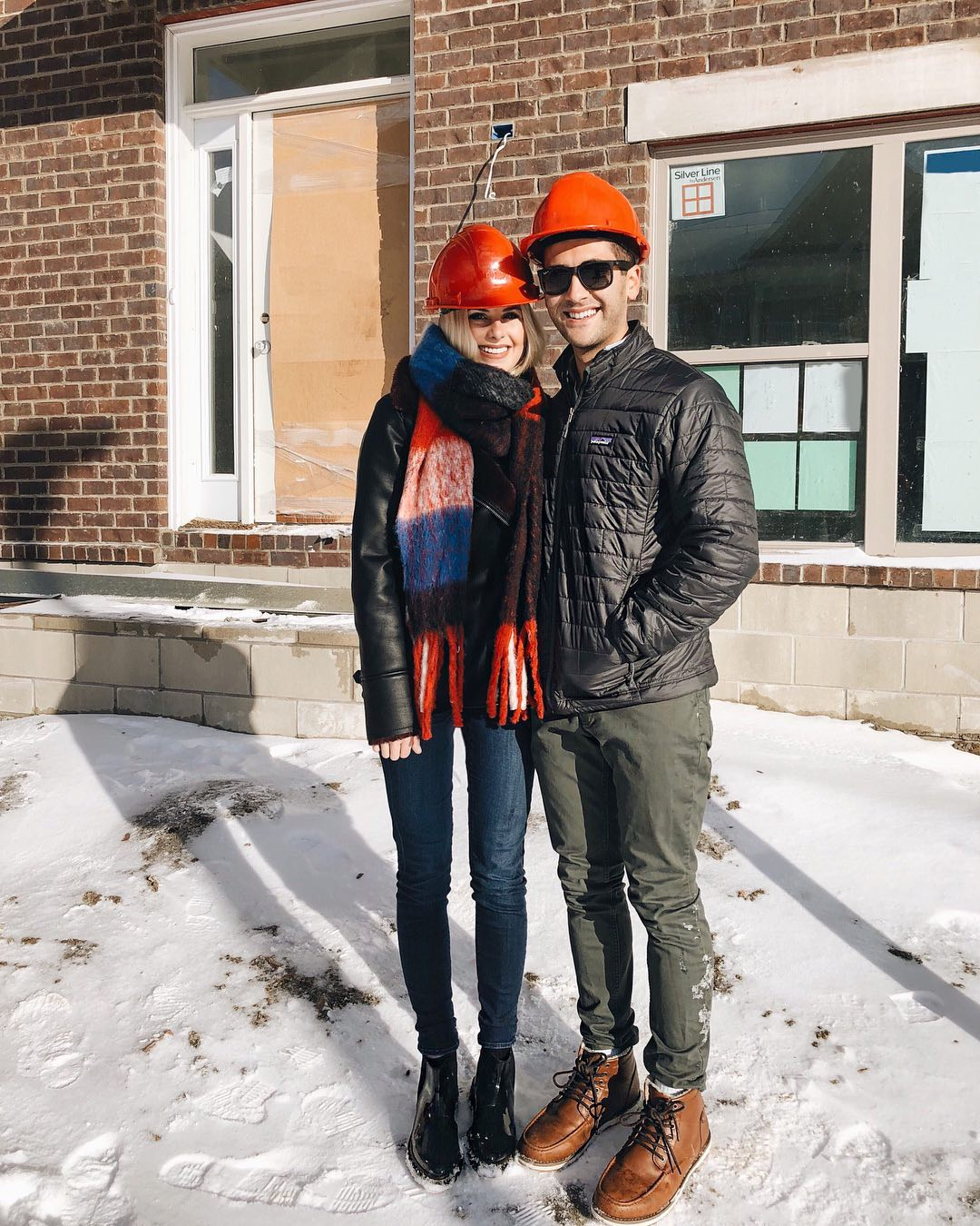 - Anxiously watched our house get built and closed on our house in April 2018. It was the BEST feeling ever and both of our favorite parts of the year!