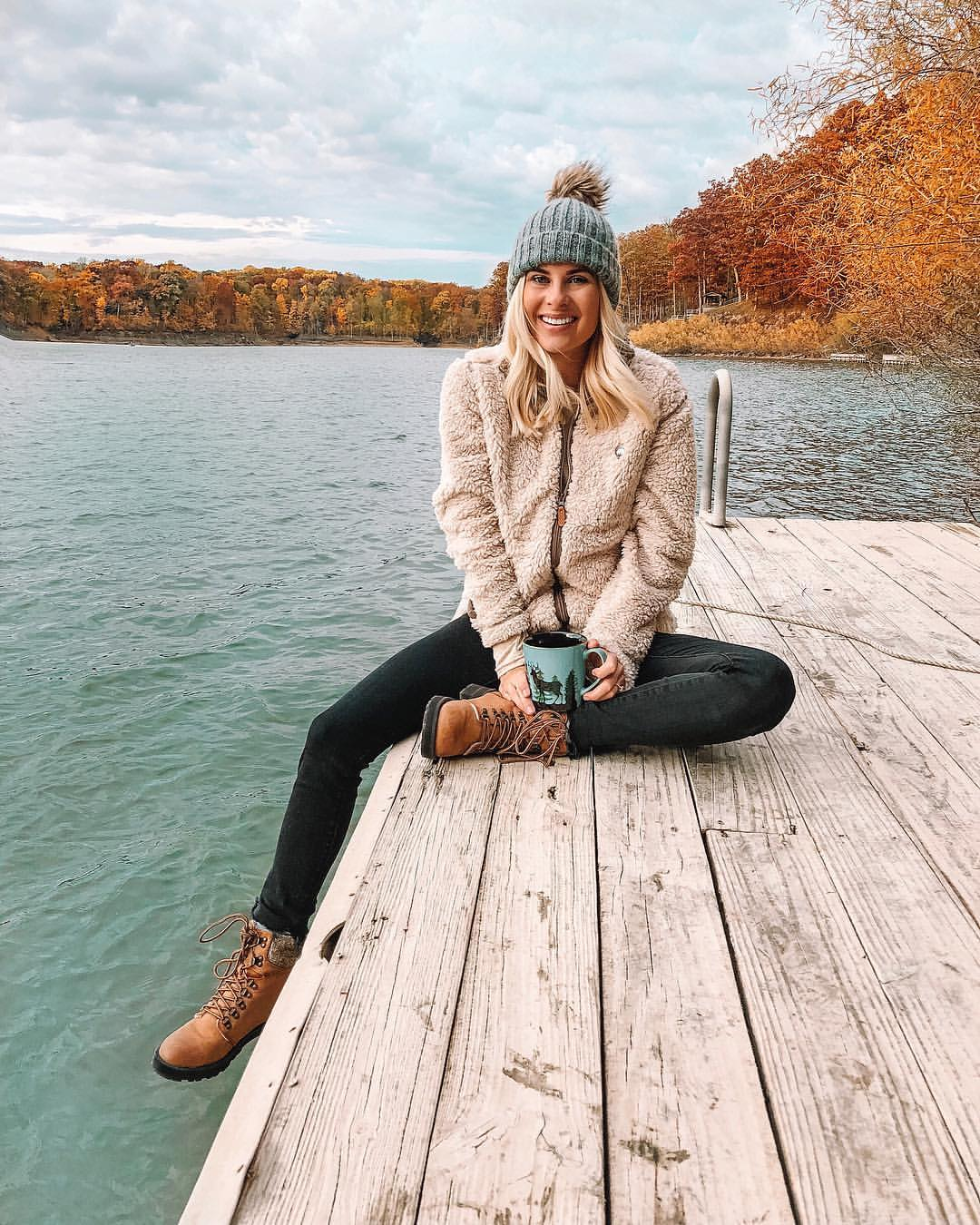 """- Went on a """"camping"""" trip with some friends from my church group. It was the perfect fall weekend and we made so many memories."""