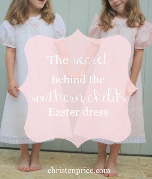 secret behind southern child's easter dress