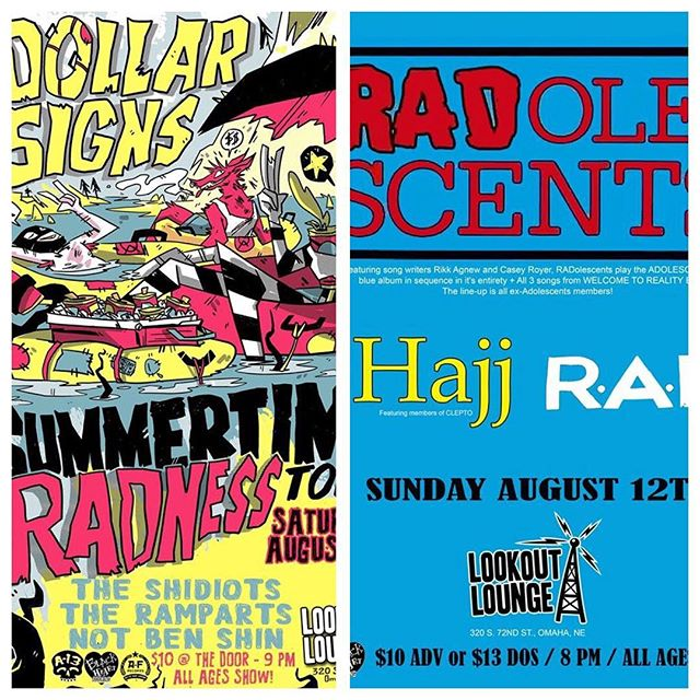 Punk rock weekend at Lookout!! Saturday Night we have @dollarsignstheband followed by #theradolescents playing the classic blue album in its entirety on Sunday! Come circle pit!