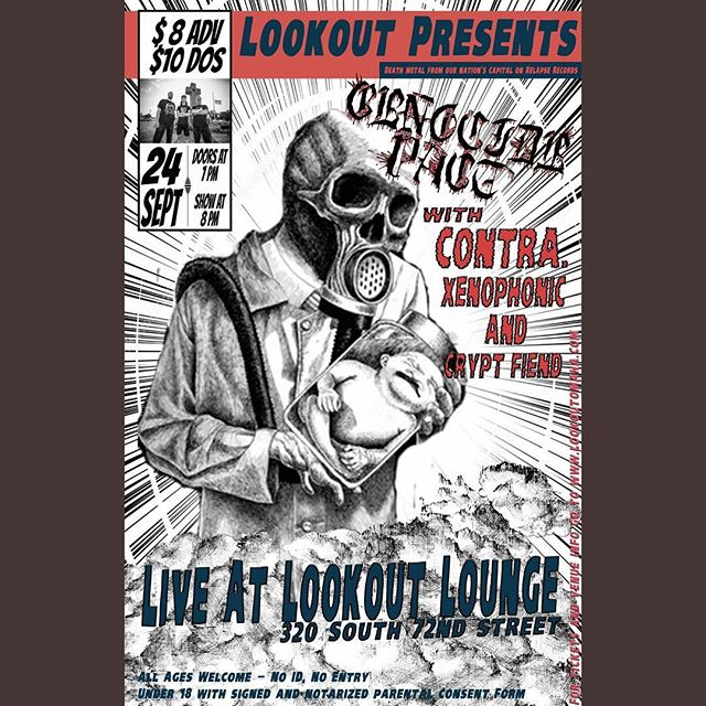 Monday, September 24th come check out @genocidepact with Contra., Xenophonic and Crypt Fiend! #deathmetal #metal