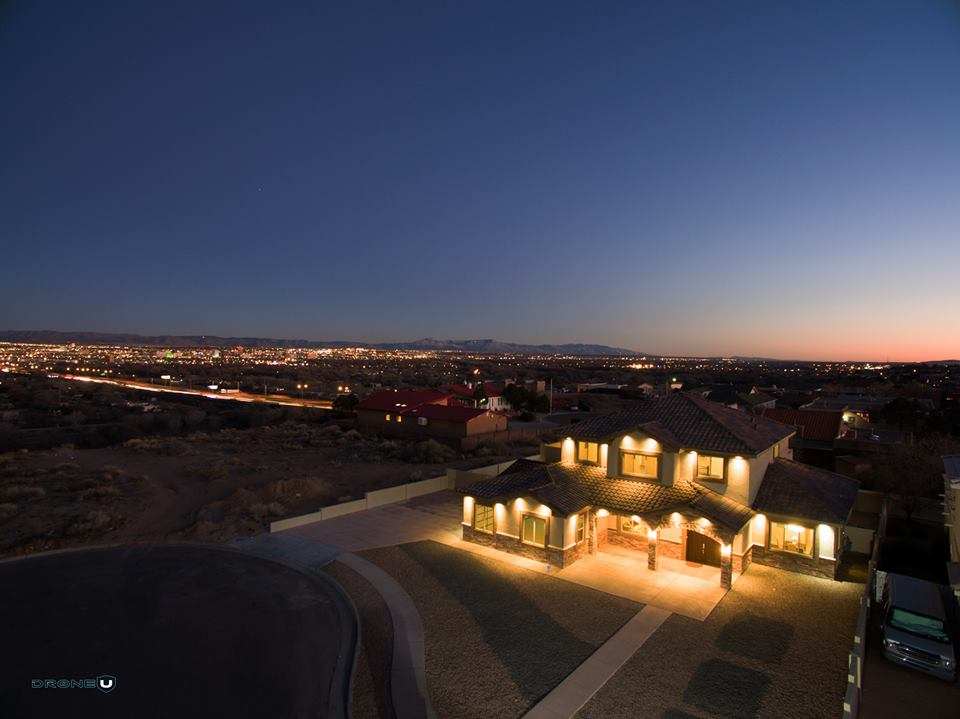 Aerial Photography in Albuquerque, New Mexico with an Approved FAA Night Time Waiver.