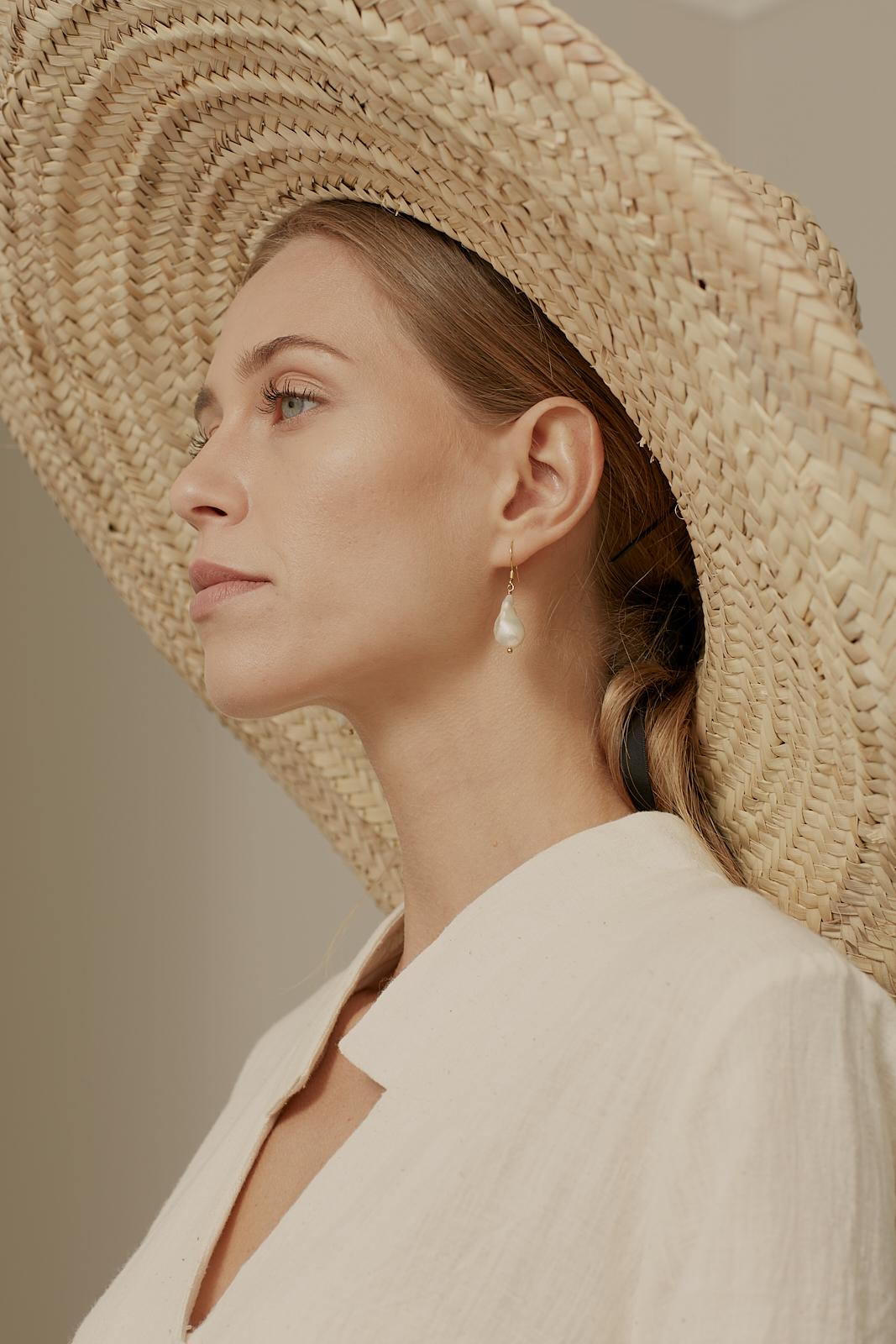 Ren London handwoven palm leaf sun hat
