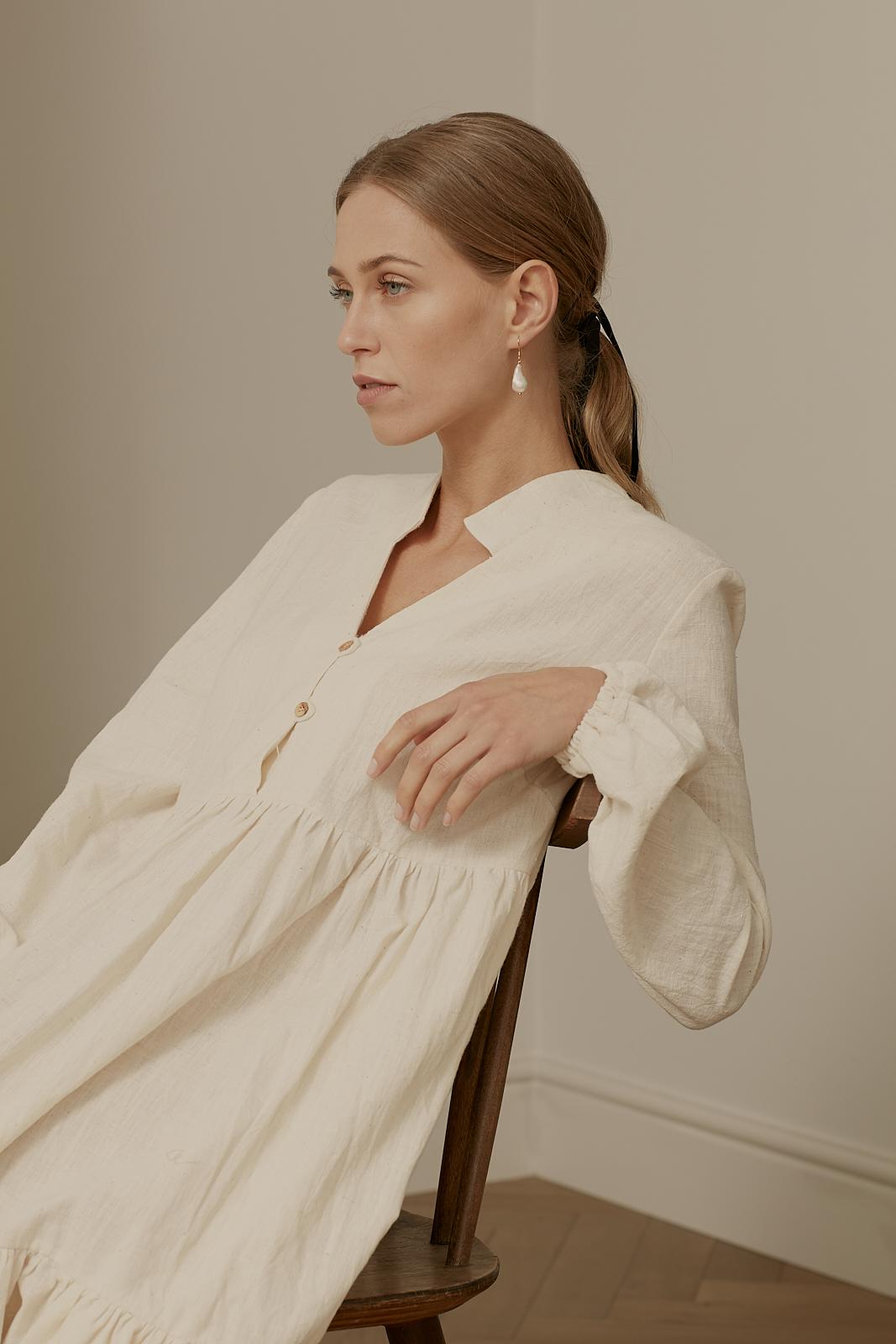 Ren London Marni dress in organic handwoven cotton