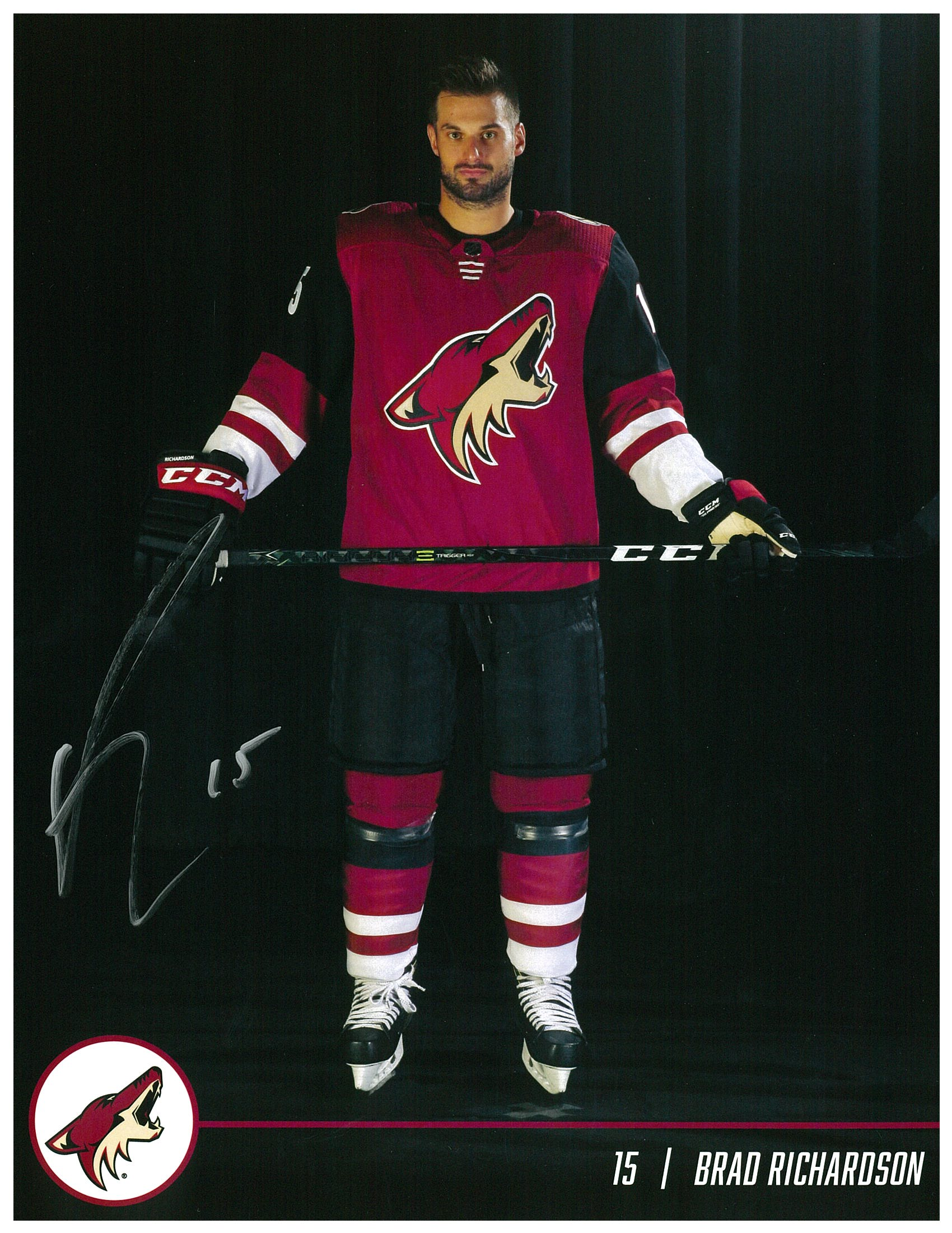 Brad Richardson_Autographed Arizona Coyotes Photo.jpg