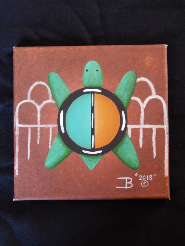 8 X 8 Turtle Painting