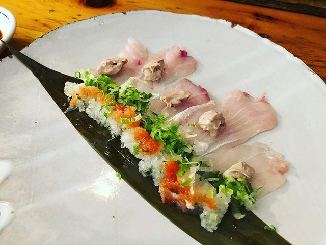 今日のオススメ 📸①Kawahagi Carpacchio 〜triggerfish served with its liver mousse〜 📸②House made Steamed Ankimo 〜monkfish liver〜  #genjapaneserestaurant #genbrooklyn #japanese #ankimo #kawahagi