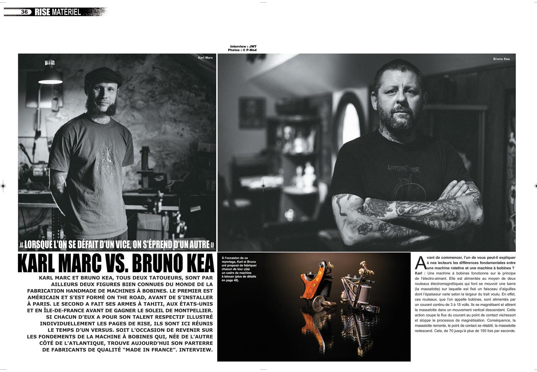 Rise Tattoo Magazine #34 - Karl Marc VS Bruno Kea