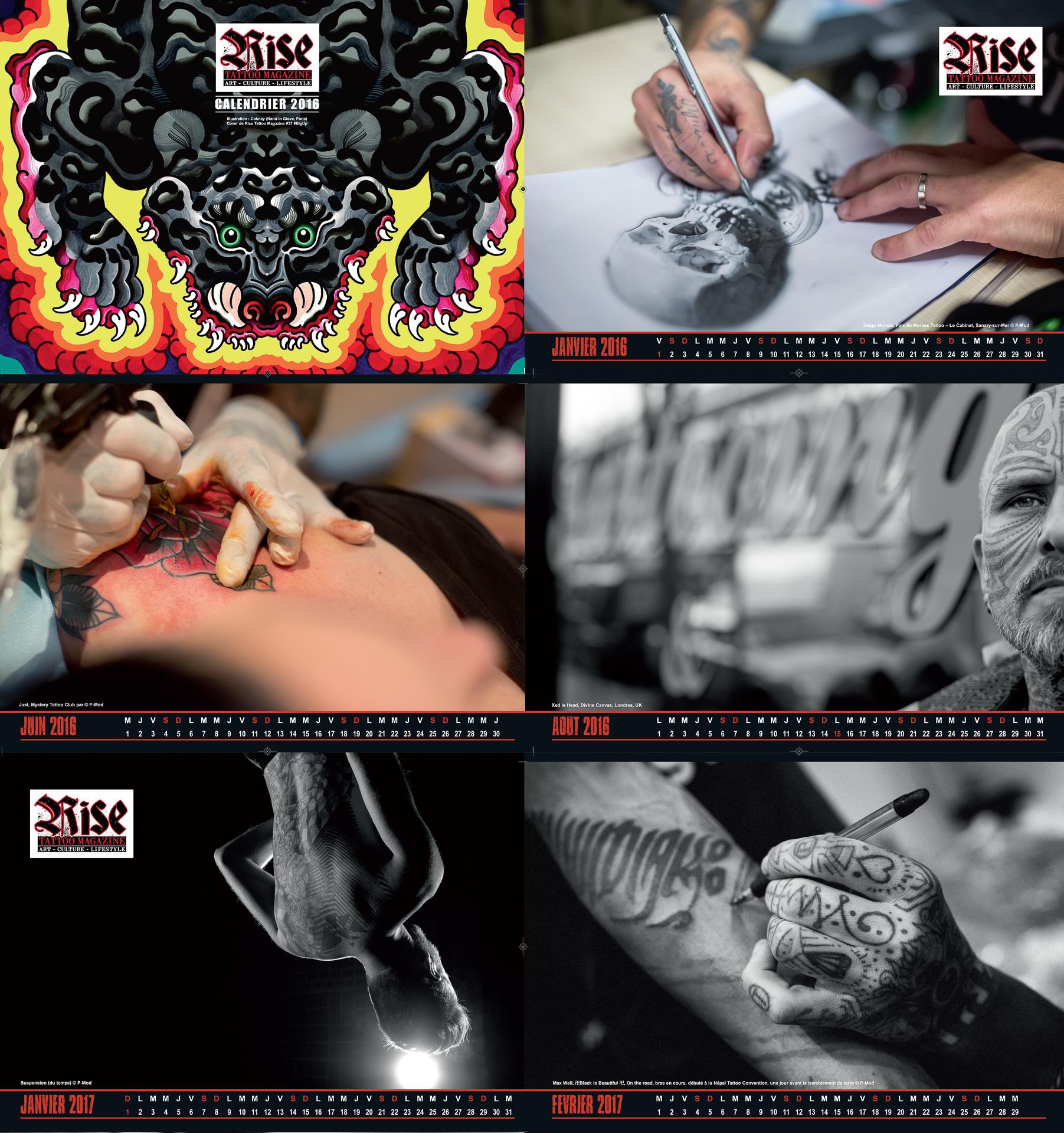 Rise tattoo Magazine #39 / Calendar 2016